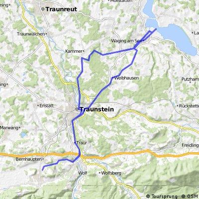 Bergen-Traunstein-Waging und zurück