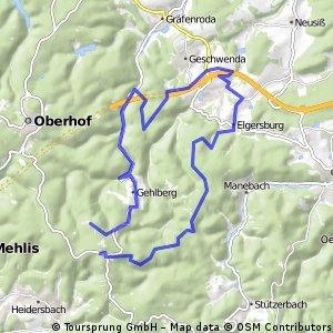 Dillstädt-Goldlauter-Schmücke-Geraberg-Schneekopf-Dillstädt