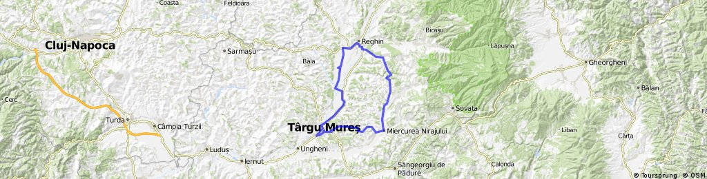 Tura De 105 Km Tg Mures M Niraj Reghin Tg Mures Bikemap