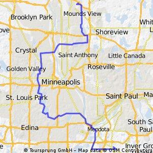 B2B00048 55449>55121 via chain of lakes