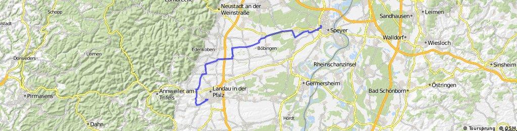 Speyer nach Landau