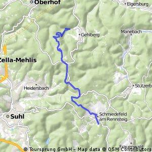 Dillstädt-Skihang Schmiedefeld-Schneekopf-Gehlberger Grund (Teil 2)