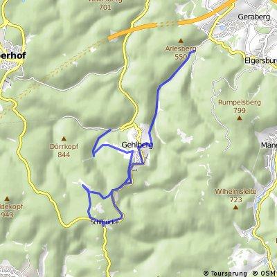 Dillstädt-Skihang Schmiedefeld-Schneekopf-Gehlberger Grund-Schneekopf-Zahme Gera (Teil 3)
