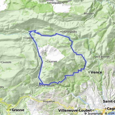 Les gorges du loup 47,5 km 1250 hm