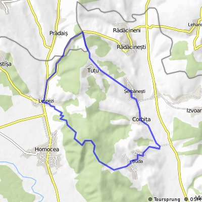 Lespezi-Dealu Munteanului-Tutu-Serbanesti-Corbita-Buda-Lespezi