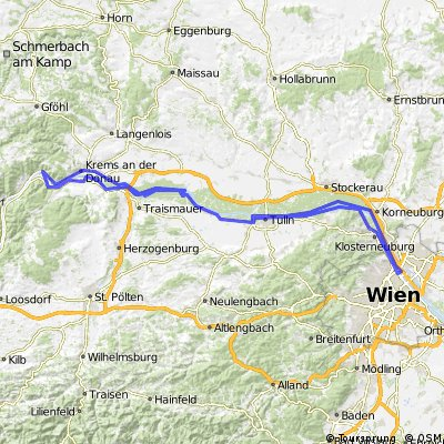 176km Wien Dürnstein