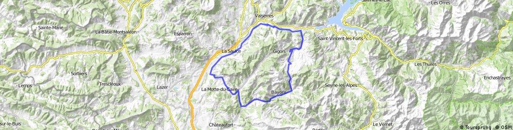 2016 Ride Day 72 - Clamensane Circle through Col des Sagnes