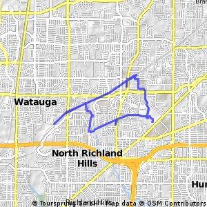 ride through North Richland Hills