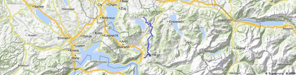 Ausfahrt von Oberägeri nach Schwyz