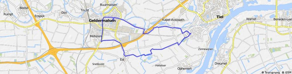 rondje Passewaaij-Est-Meteren-Geldermalsen-Wadenooijen-Passewaaij