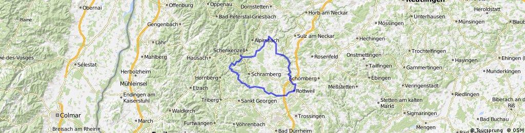 Schiltach, Peterzell, Dornhan, Oberndorf, Rottweil, Horgen, Hardt, Tennenbronn