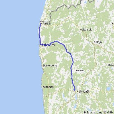 Latvia - Ainazi to Ozolaine