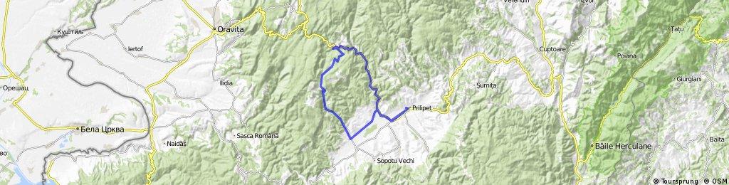 Prilipet-Bozovici-Gura Golambului-Poiana Roschii-Lapusnicul Mare