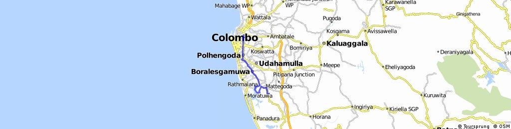 Piliyandala Route