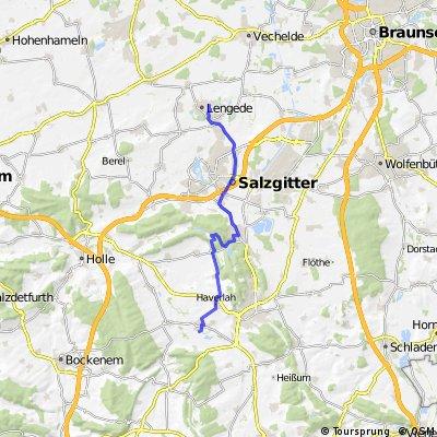 Ausfahrt von Lengede nach Salzgitter