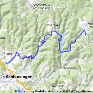 Dillstädt-Simmersberg-Werraquelle-Oelze-Kahlert-St. Kilian (Teil 2)