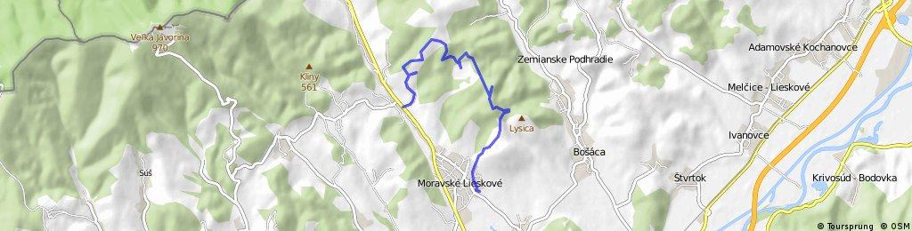 Moravské Lieskové - rolincova-za javorom-Brestove