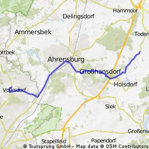 Volksdorf . Oetjendorf 16.74 km Route 1
