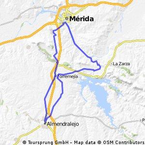 Almendralejo-Mérida-Calamonte-Torremejía-Almendralejo