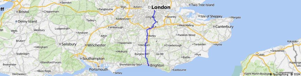 Brockley to Brighton - NCN 21 and NCN 20