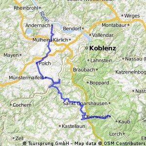 Andernach Polch Mosel Emmelshausen Rhein