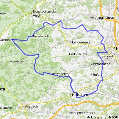 Map Of Zirndorf Germany.Cycling Routes And Bike Maps In And Around Zirndorf Bikemap Your