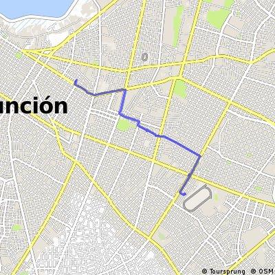Short bike tour through Asunción