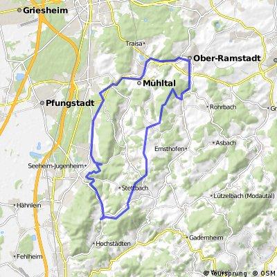 MTB-Runde Modautal - Hutzelstr -Heiligenberg