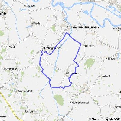 Emtinghausen-Schwarme-Beppen-Thedinghausen-Emtinghausen