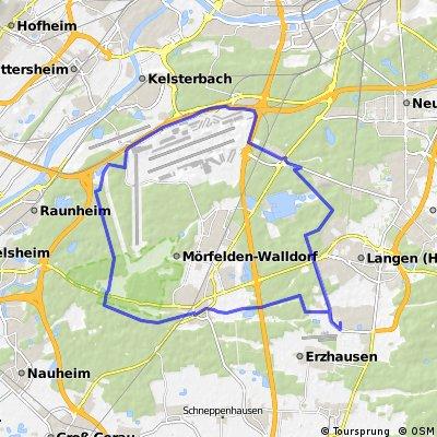 Rund um den großen Rhein Main Airport 41,4 km 2 Stunden