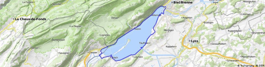 Lengthy ride through Biel/Bienne