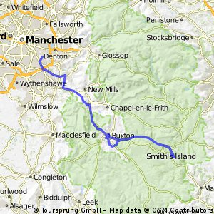 Stockport to Buxton to Bakewell Via Monsal Trail