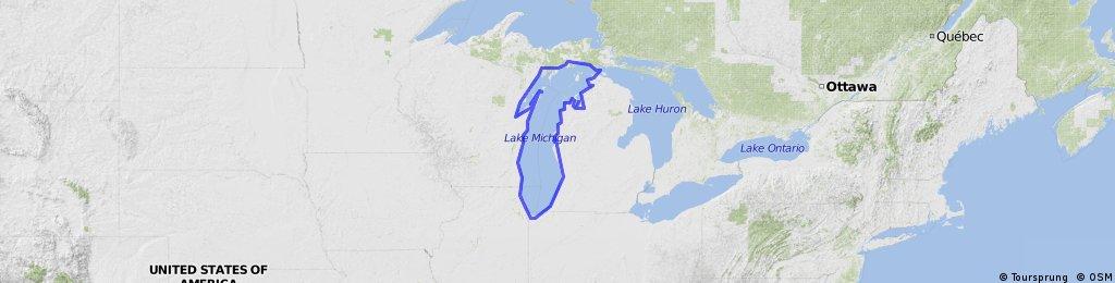 ride around Lake Michigan