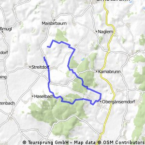 Bruderndorf - Obergänserndorf - Lachsfeld - retour