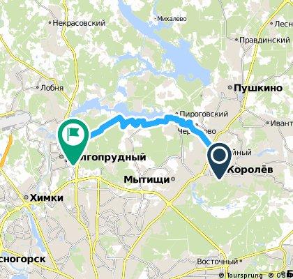 bike tour from Королев to Долгопрудный