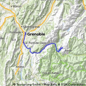 grenoble to the alp