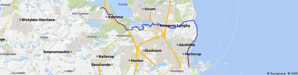 ride from Farum to Copenhagen