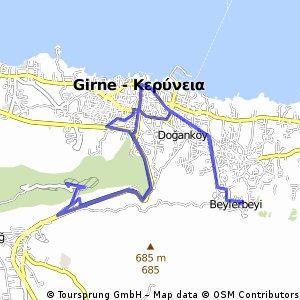 Auto - Girne - St Hilarion - Bellapais