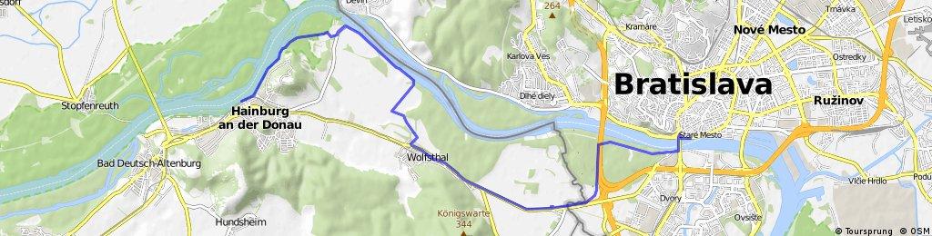 Hainburg nach Bratislava