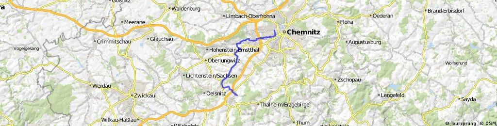 Radrunde von Chemnitz nach Niederdorf