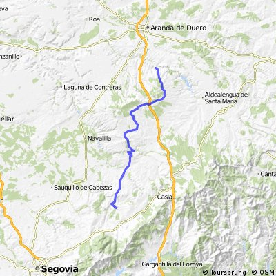 a 4ª Montejo de la Vega de la Serrezuela - Pedraza.