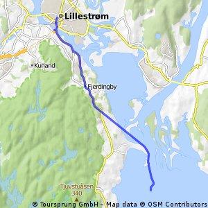 Quick bike tour from Lillestrøm to 렐링엔