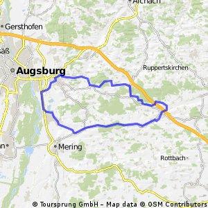 Rundtour von Hörmannsberg Odelzhausen Landmannsdorf Friedberg Kissing