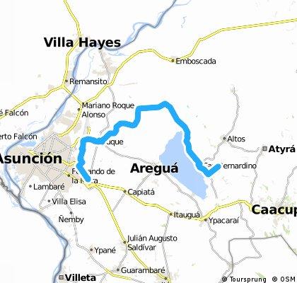 Long bike tour from (null) to Asunción