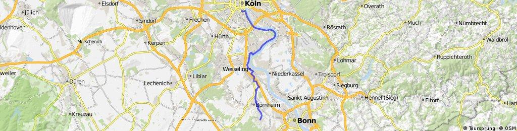 Lange Ausfahrt von Köln nach Alfter