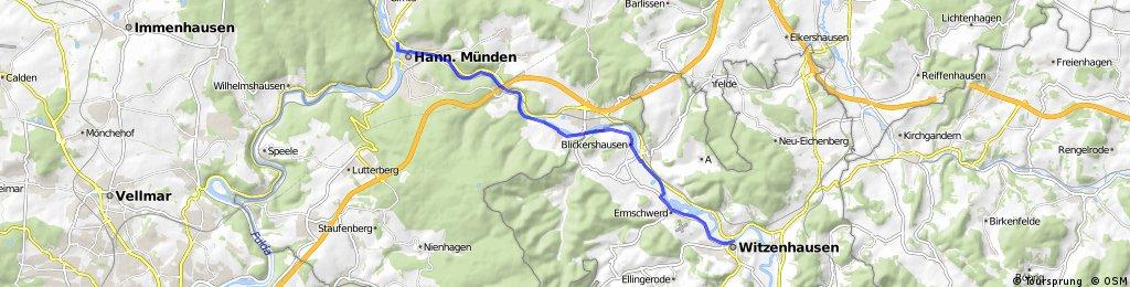 Radtour Witzenhausen nach Hann.Münden und zurück