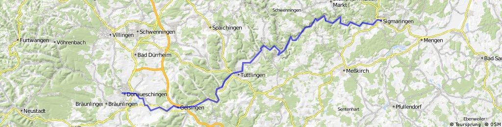 11 Etappe Siegmaringen-Donaueschingen 92 Km 690 hm