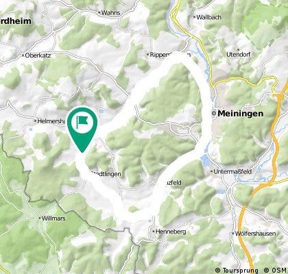 Kurze Ausfahrt in Rhönblick-Meiningen