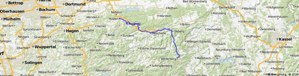 Lange Radrunde von Winterberg nach Arnsberg