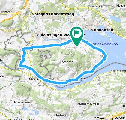Von Moos am Bodensee rund um den Schienerberg